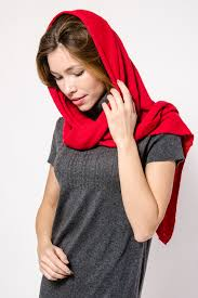 Pure and Soft Cashmere Red Scarf